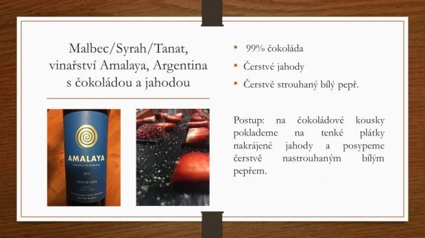 Párování s vínem amalaya s čokoládou a jahodou recept