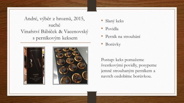 Párování s vínem andré + perníkový keks recept